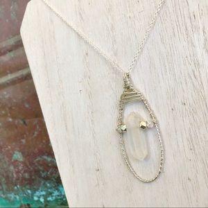 Jewelry - Rainbow Aura Quartz Wire Wrap Necklace